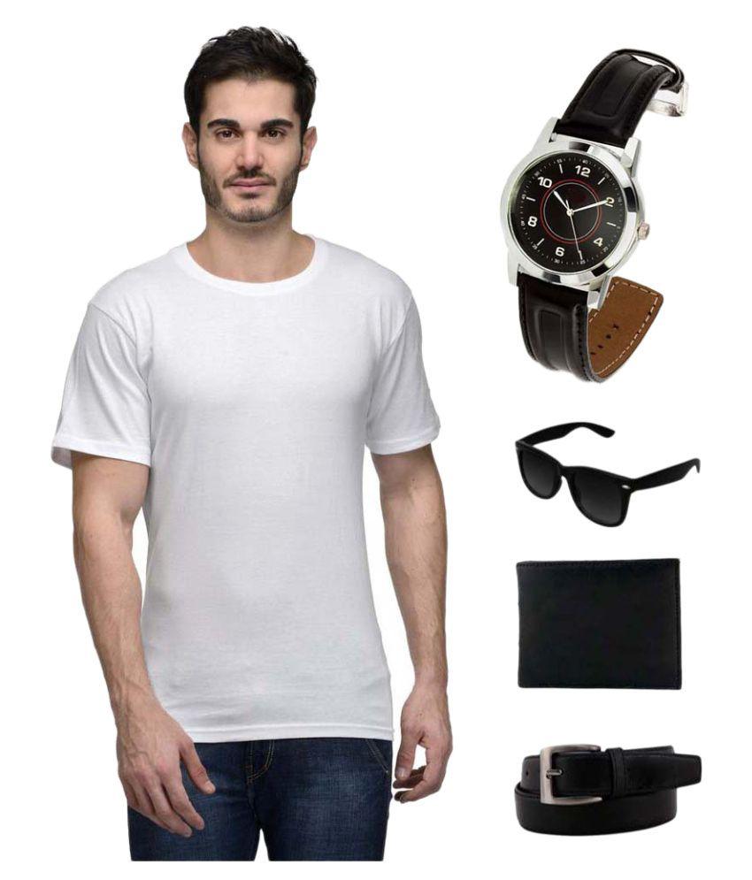 Hi Lifestyles White Round T-Shirt