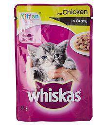 Whiskas Wet Meal Kitten Cat Food Chicken In Gravy, 1.02 Kg (Pack Of 12)