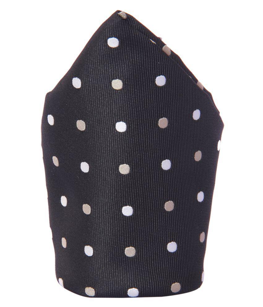 Tossido Black Woven Pocket Square