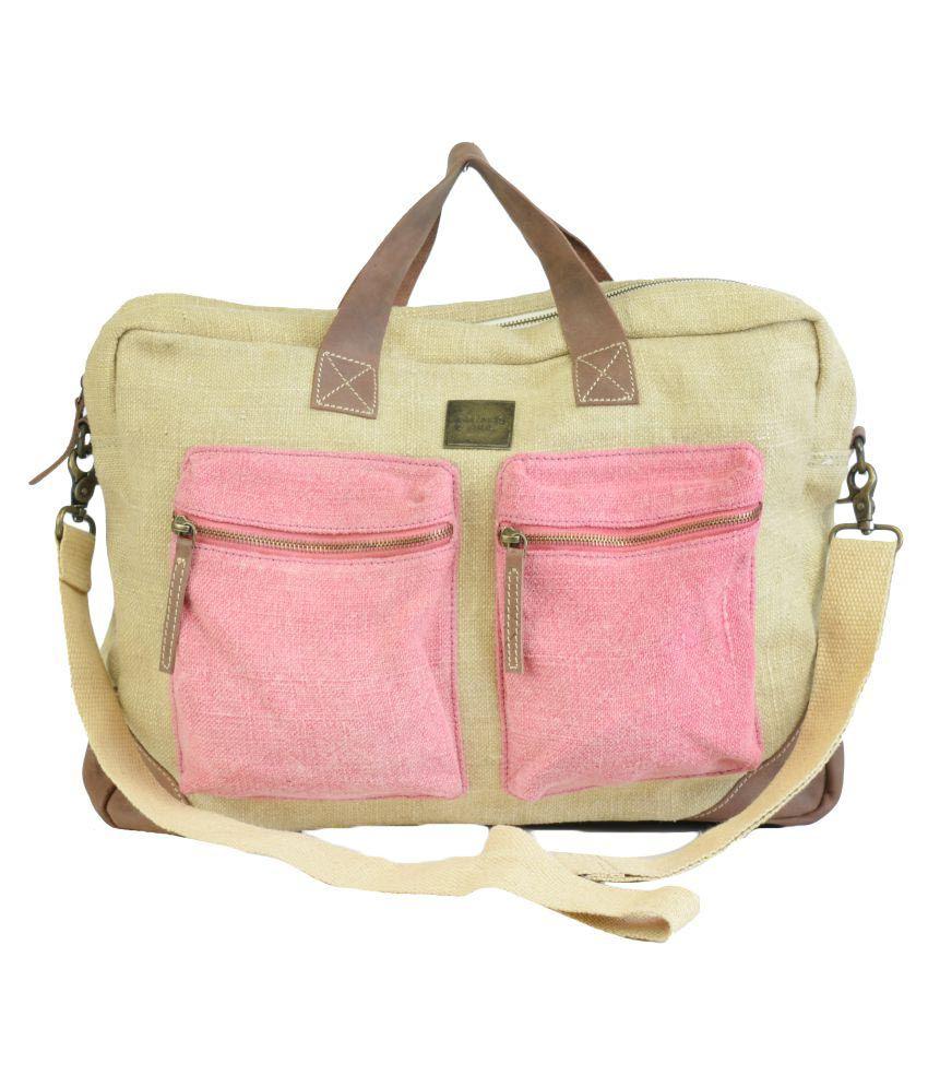 Canvas & Awl Pink Casual Messenger Bag