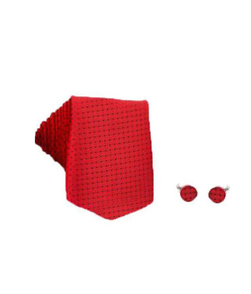 Maruti Tie Red Formal Combo