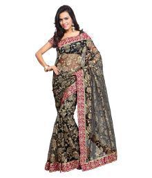 Aruna Sarees Black Net Saree