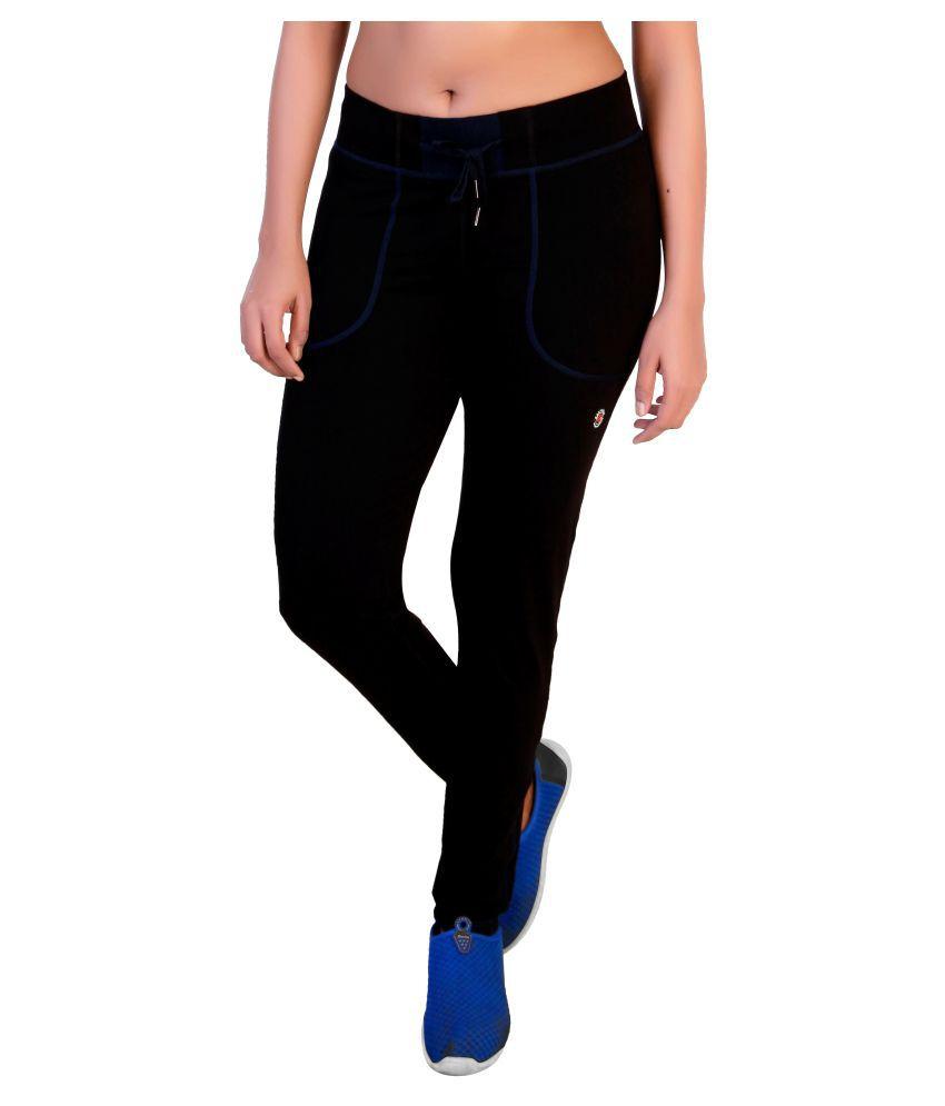 Restless Black Blue Cotton Bottomwear