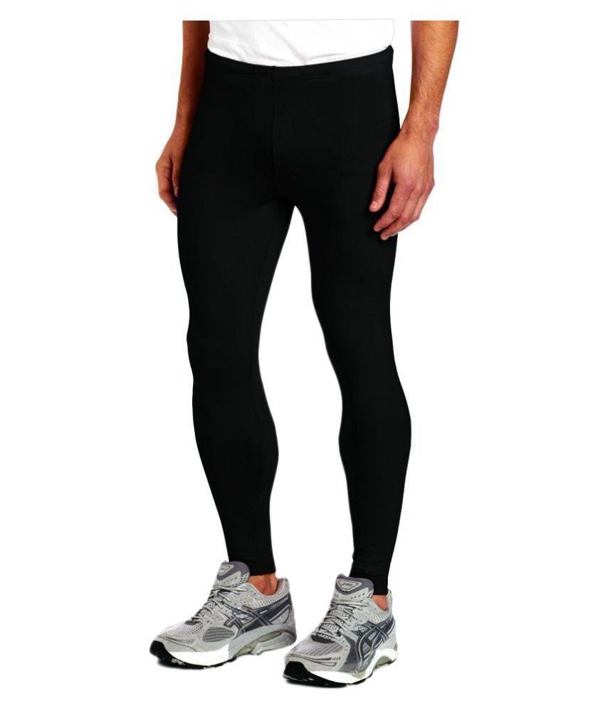 Lycot Black Lycra Bottomwear