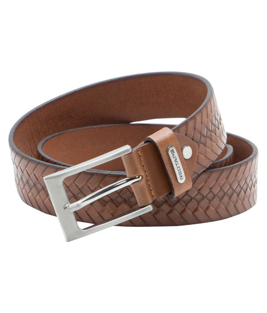 Red Tape Tan Leather Casual Belts