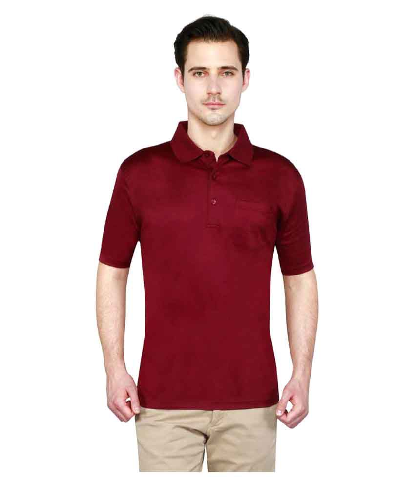 T10 Sports Maroon Cotton Polo T-Shirt Single Pack