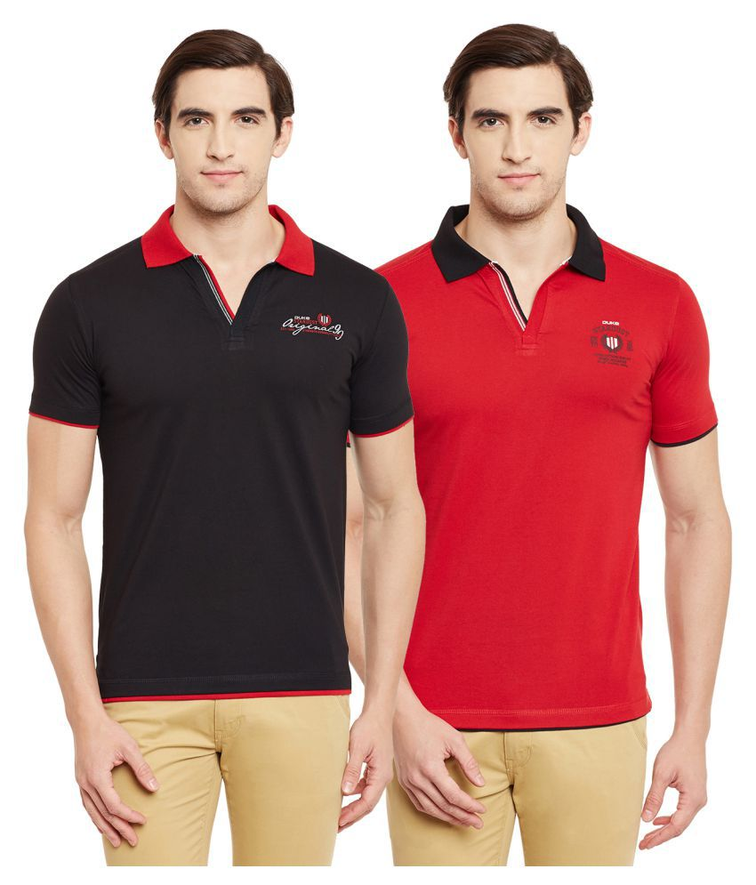 d28fc73b7 Duke Multi Regular Fit Polo T Shirt Pack of 2 - Buy Duke Multi Regular Fit Polo  T Shirt Pack of 2 Online at Low Price - Snapdeal.com