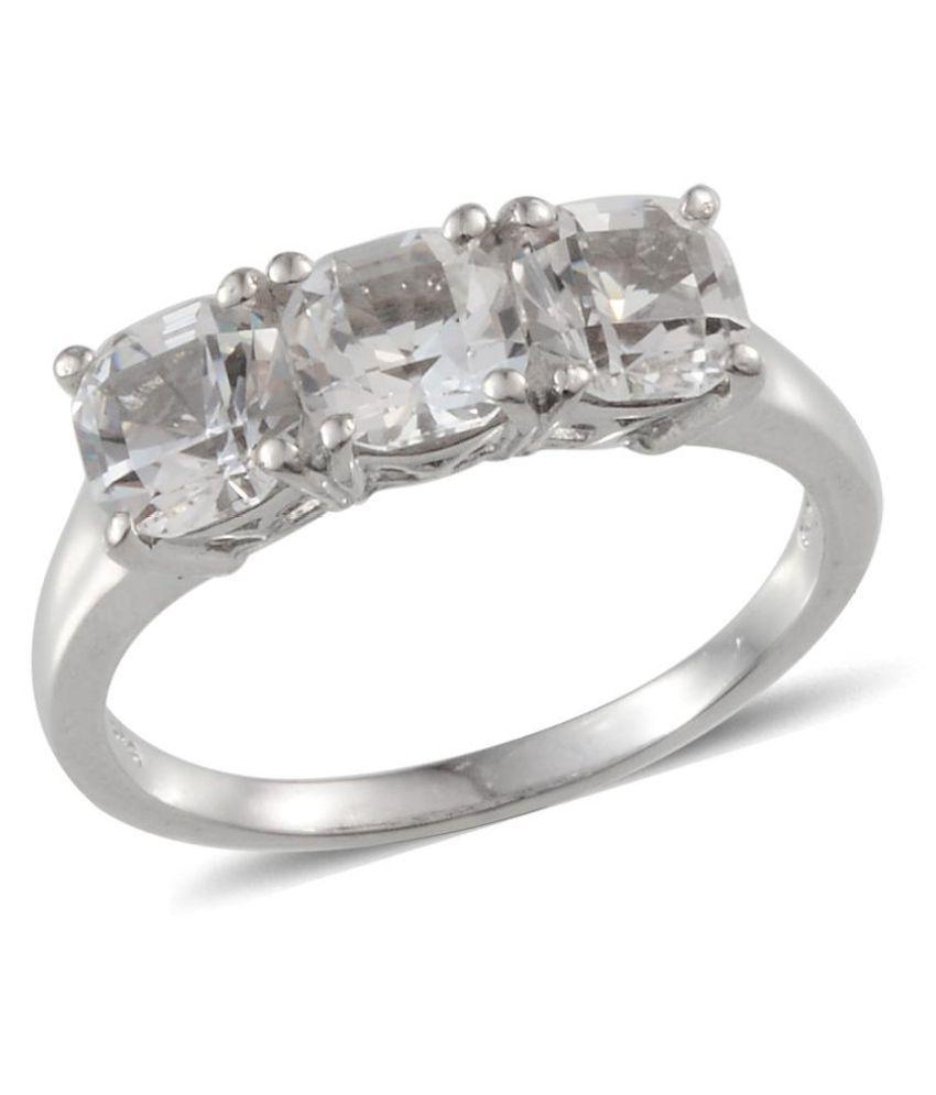 Vaibhav 92.5 Silver Topaz Ring