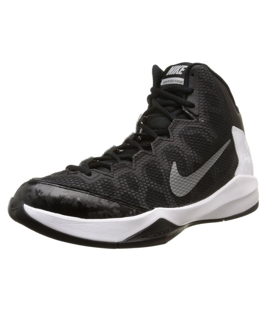 f1e355fe8962f Nike Zoom Without a Doubt Black Basketball Shoes - Buy Nike Zoom Without a Doubt  Black Basketball Shoes Online at Best Prices in India on Snapdeal