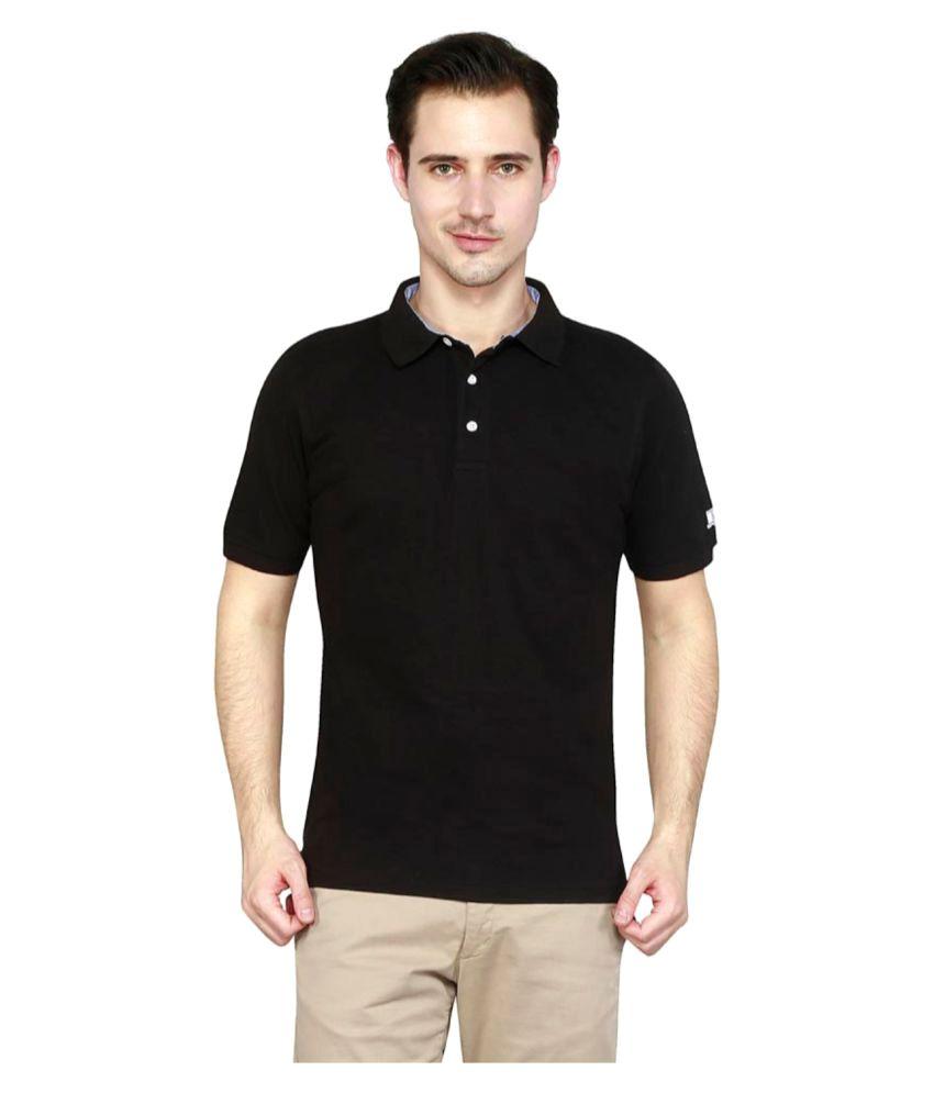 T10 Sports Black Cotton Polo T-Shirt Single Pack