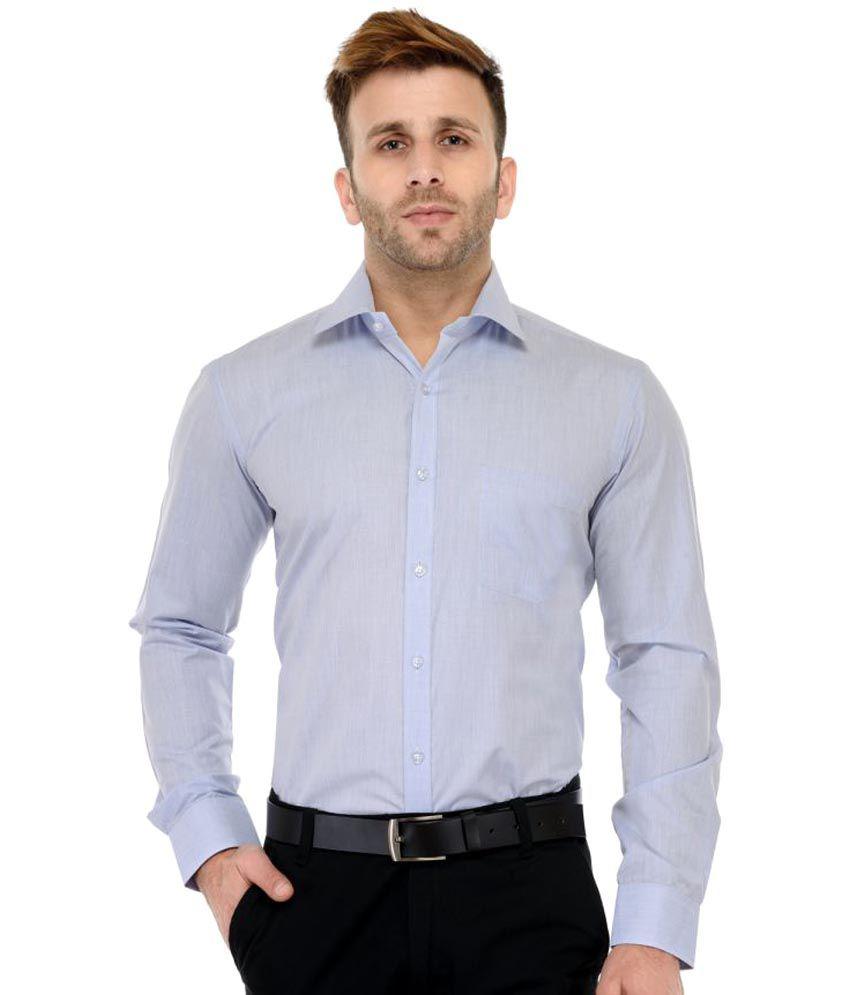 RG Designers Blue Formal Slim Fit Shirt