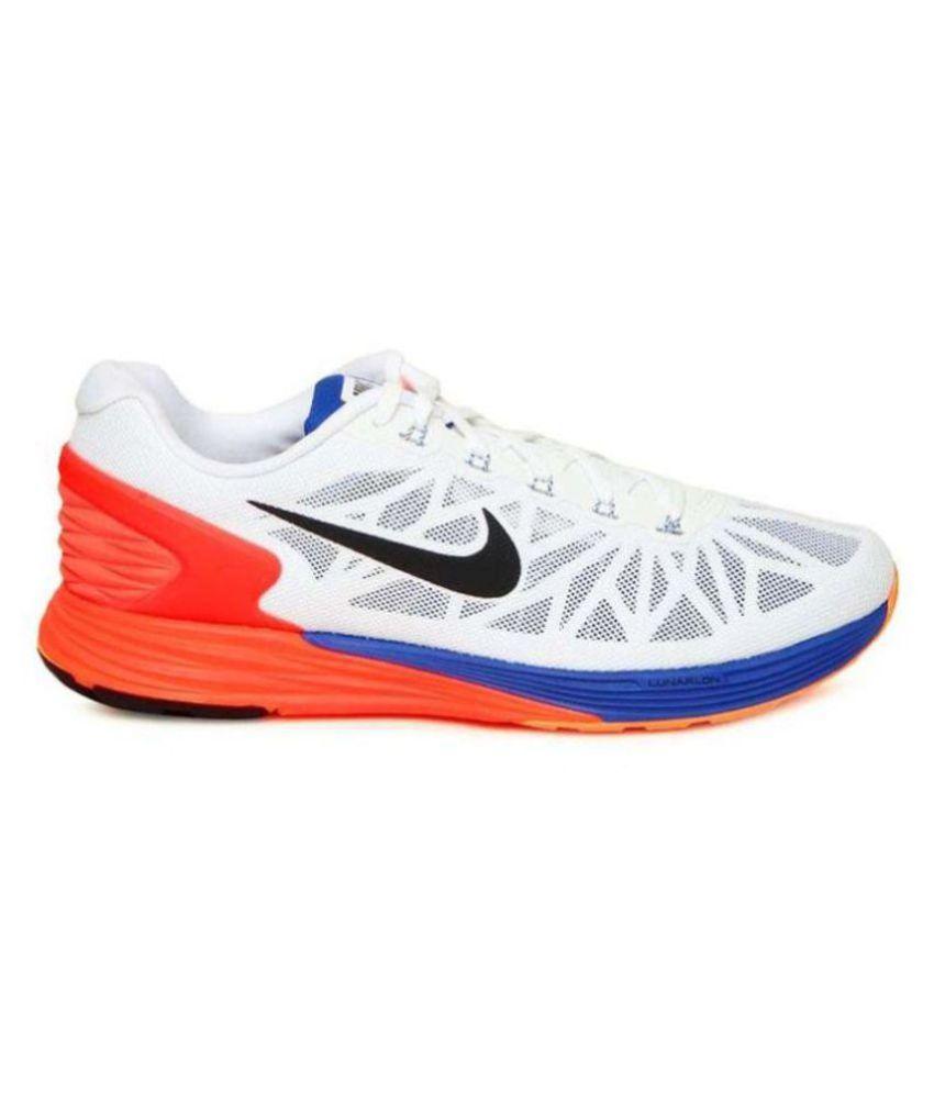 c68af74d365e Nike Glide 6 White Running Shoes - Buy Nike Glide 6 White Running ...