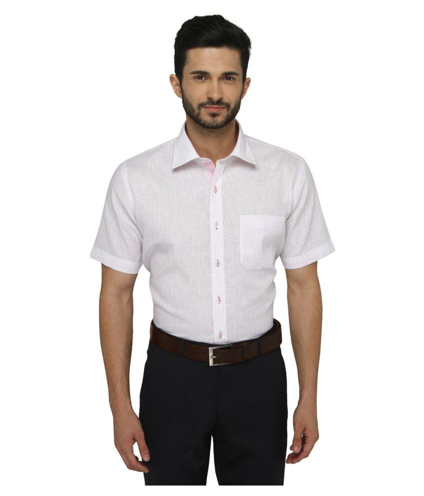 Greenfibre Pink Formal Regular Fit Shirt
