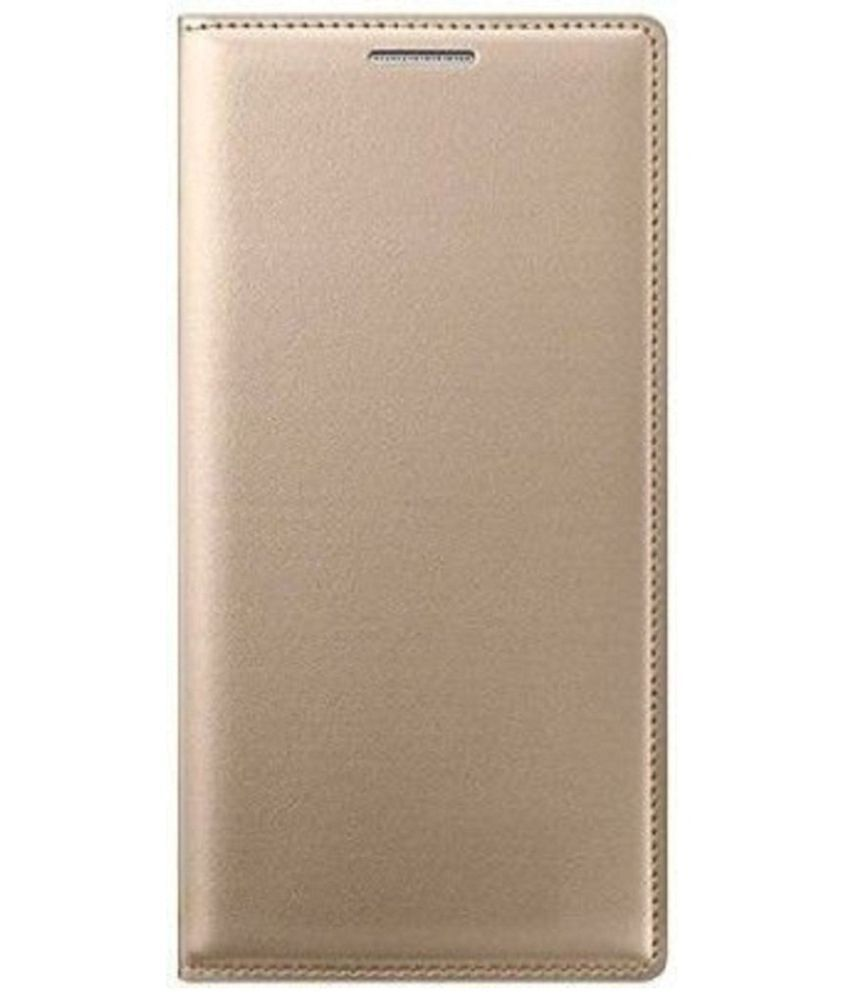 Lenovo A7700 Flip Cover by Shanice - Golden