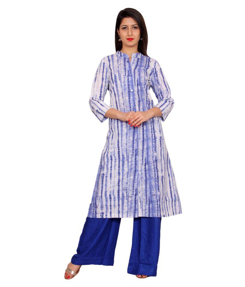 Merry Fashion Multicoloured Cotton Shirt style Kurti