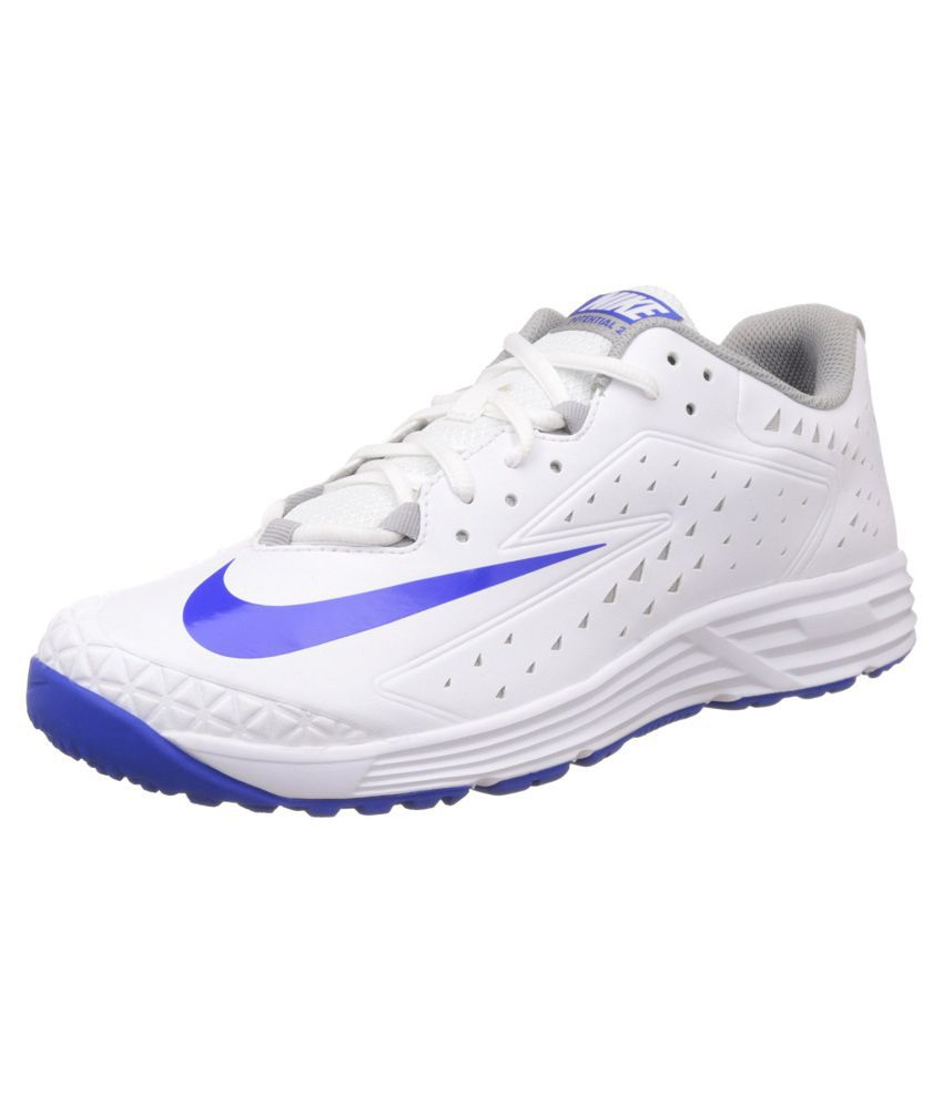 big sale 70423 de5bb Nike Potential 2 White Cricket Shoes - Buy Nike Potential 2 White Cricket  Shoes Online at Best Prices in India on Snapdeal