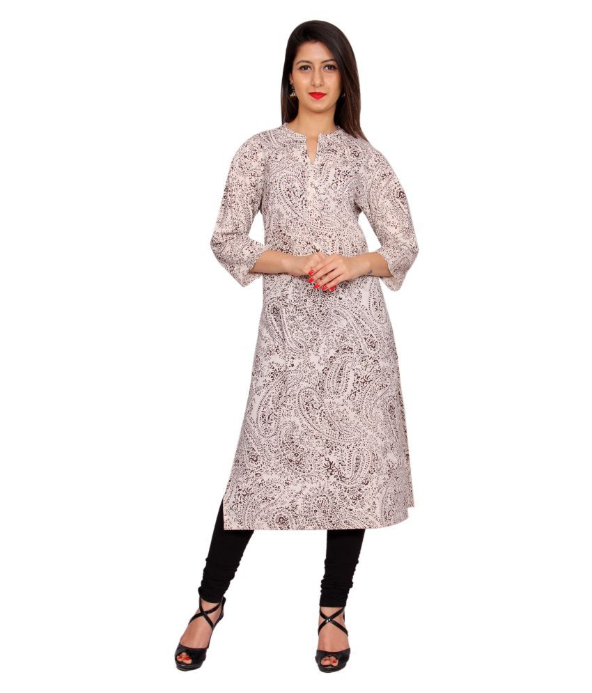 Merry Fashion Multicoloured Cotton Straight Kurti