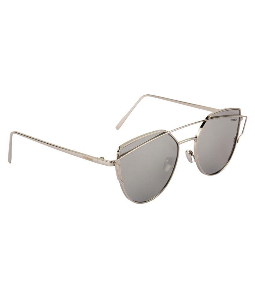 Voyage Silver Cat Eye Sunglasses ( V061MG2083 )