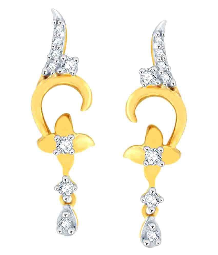 Maya Gold 22k Gold Cubic zirconia Drop Earrings