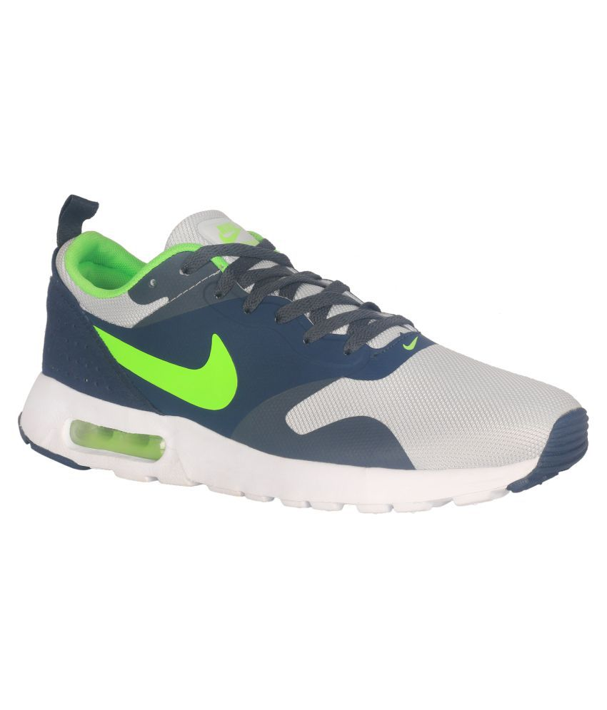 new style cb0ae 29ad3 Nike Air Max Tavas Gray Running Shoes - Buy Nike Air Max Tavas Gray Running  Shoes Online at Best Prices in India on Snapdeal