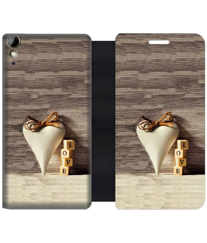 HTC Desire 10 Lifestyle Flip Cover by Skintice - Brown