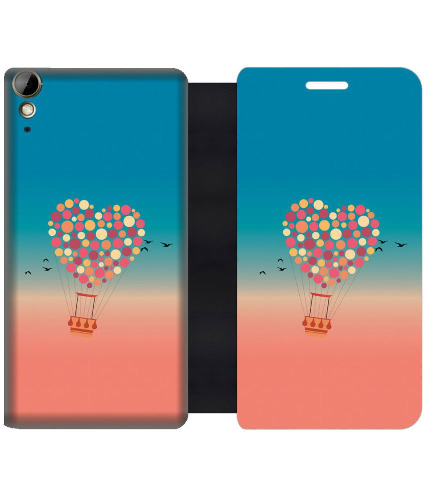 HTC Desire 10 Lifestyle Flip Cover by Skintice - Pink