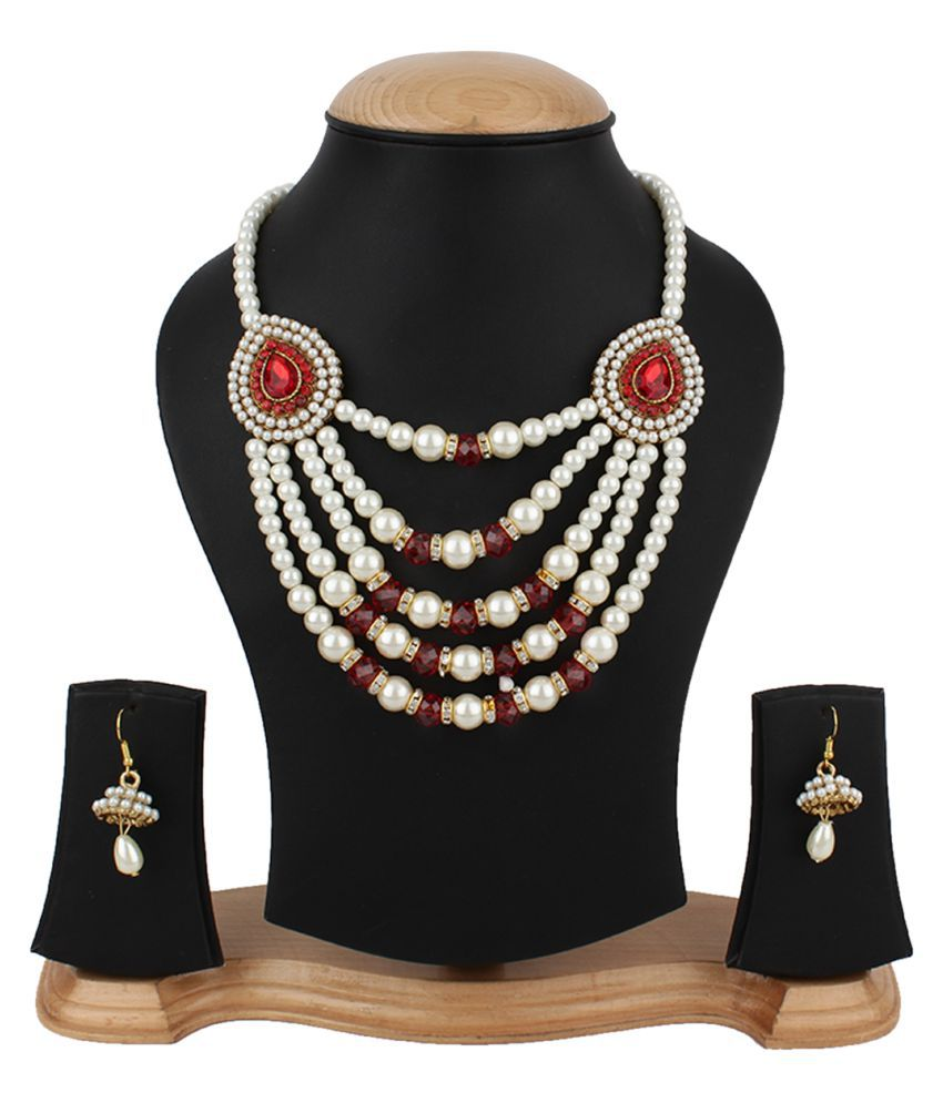 Jewels Gold Multicolour Necklace Set