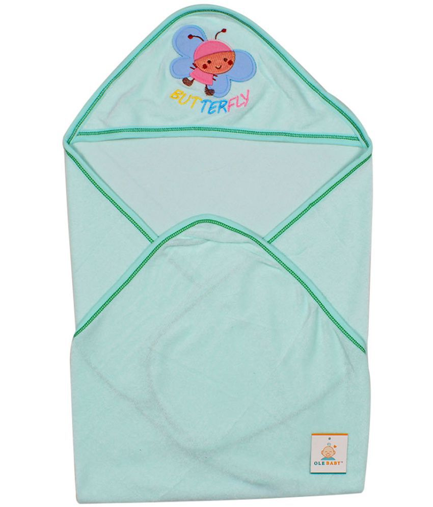 Ole Baby Green Cotton Bath Towels Baby Blanket/Baby Swaddle/Baby Sleeping Bag