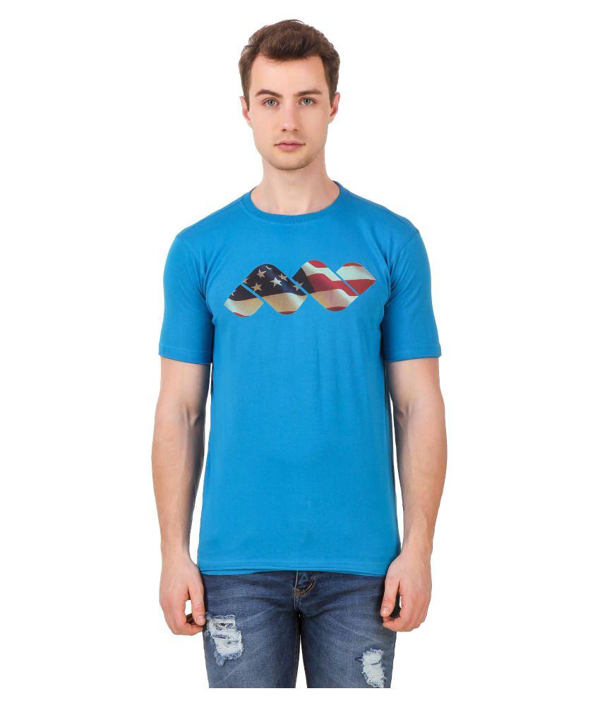 Spunk Blue Round T-Shirt