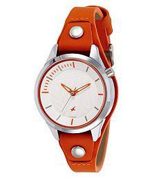 Fastrack Ladies Orange Analog Watch-6156SL02