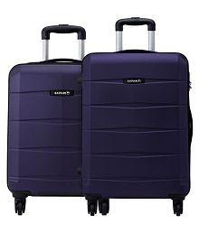 Safari Re-Gloss Anti Scratch Purple Set of 2 Small, Medium Trolley Bag Hard Luggage