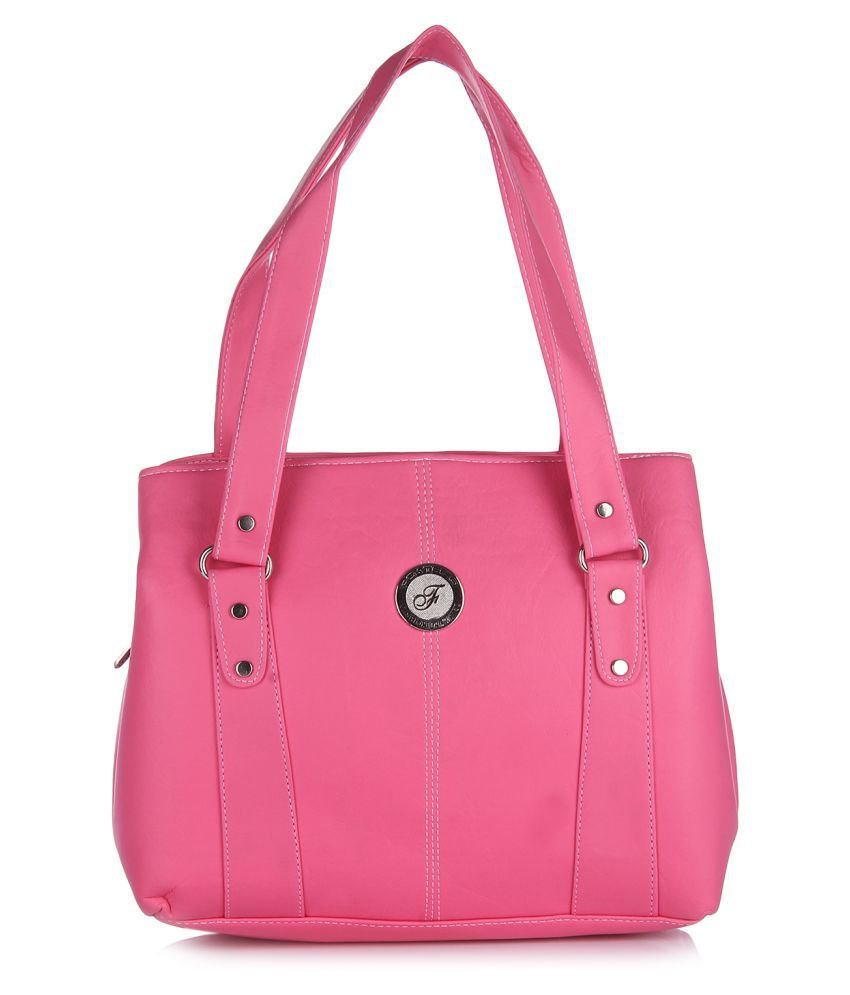 Fostelo Pink P.U. Shoulder Bag