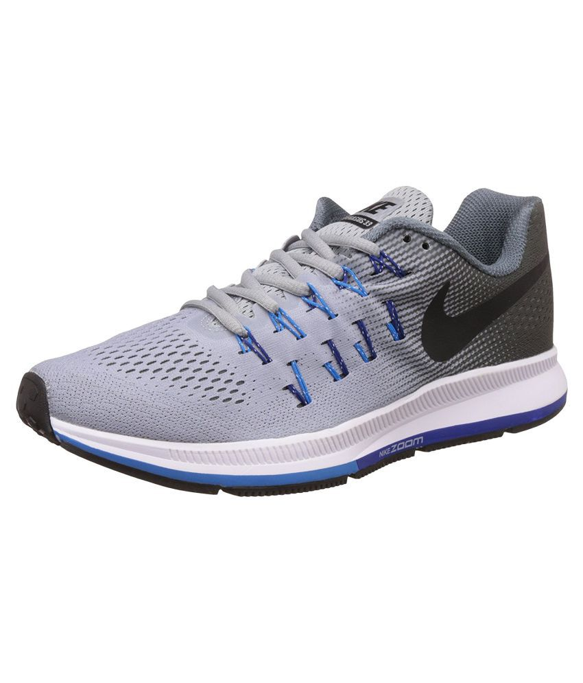 Nike Zoom Pegasus 33 Gray Running Shoes