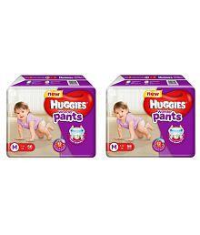 Huggies Wonder Pants Medium Size Diapers - Pack Of 2 (56 Pants Each)