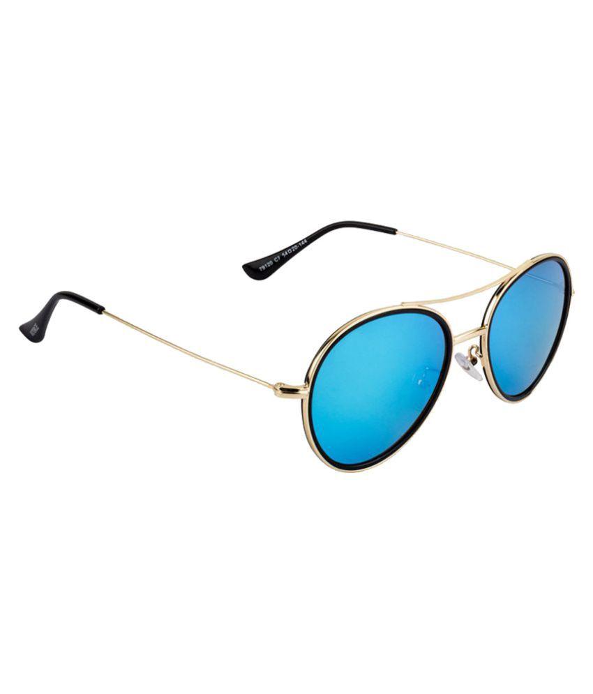 Voyage Blue Aviator Sunglasses ( 79120MG1827 )