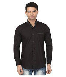 N&CM Black Casuals Slim Fit Shirt - 658438225243