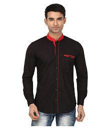 N&CM Black Casuals Slim Fit Shirt - 656941880119