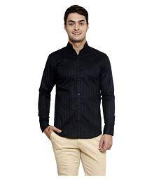 N&CM Black Casuals Slim Fit Shirt - 629638865788