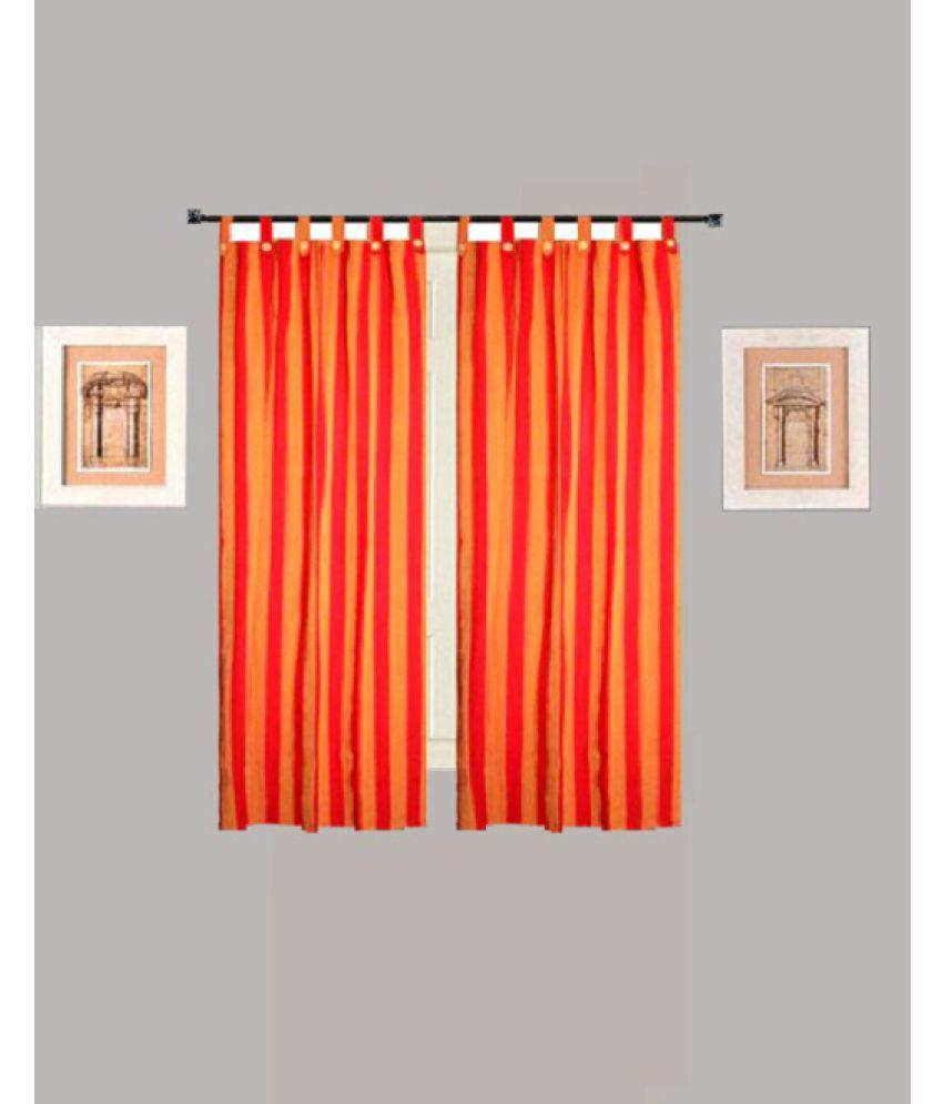 Tidy Set of 2 Window Blackout Room Darkening Loop Cotton Curtains Multi Color
