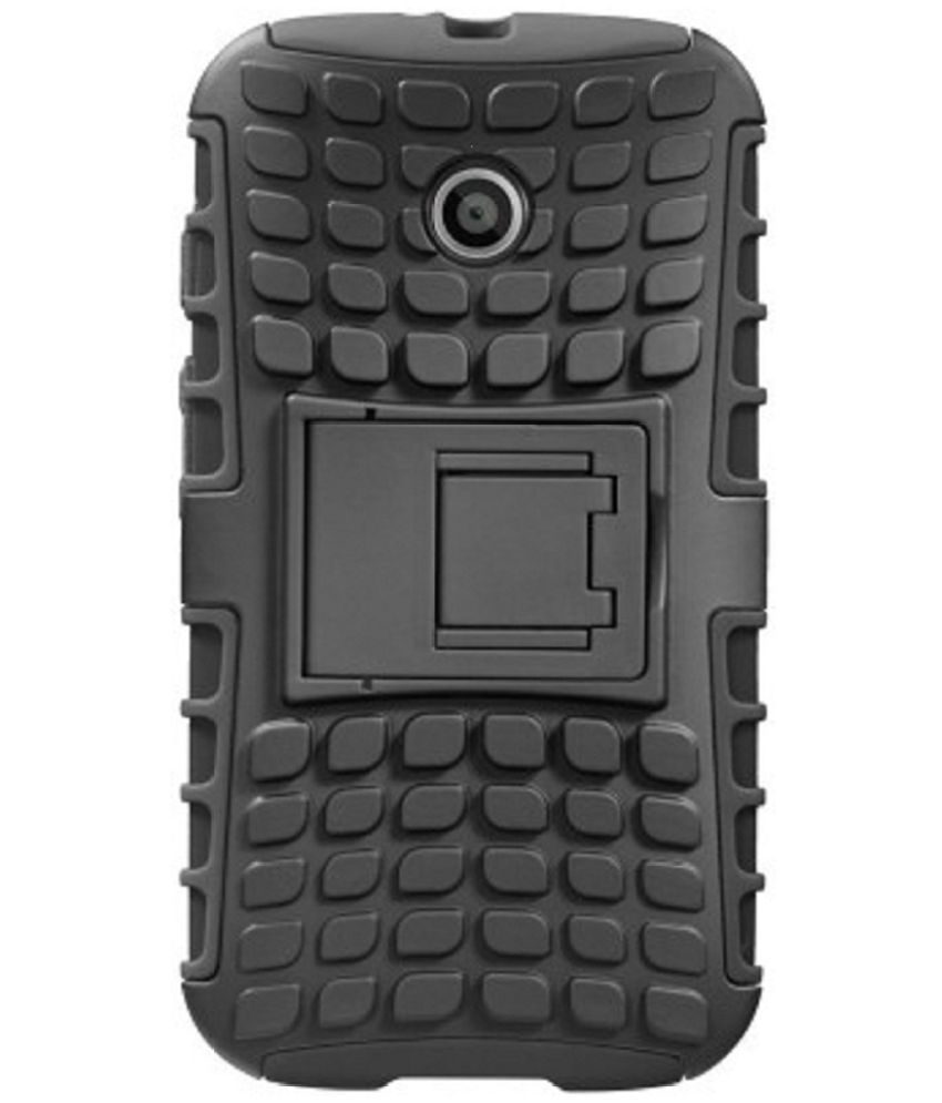 Moto E Cases with Stands Doyen Creations - Black
