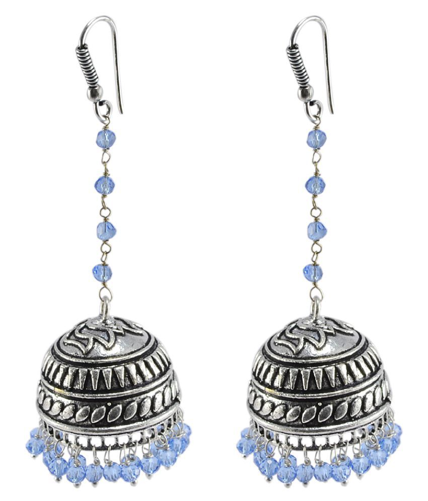Silvesto India Silver Alloy Jhumki Earring