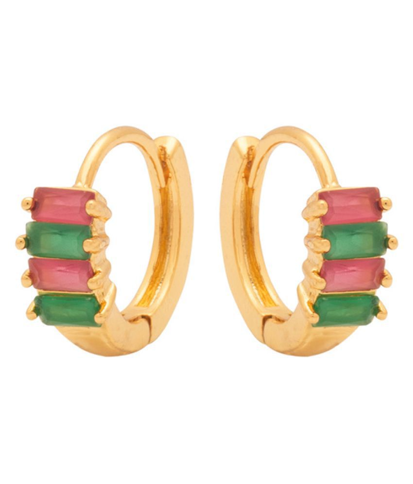 Navrang Golden Hoop Earrings