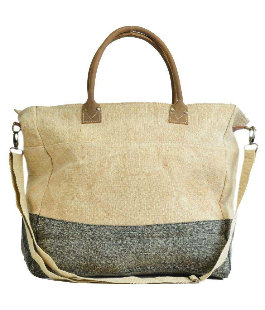 Canvas & Awl Beige Jute Shoulder Bag