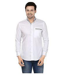 N&CM White Casuals Slim Fit Shirt - 627645793769