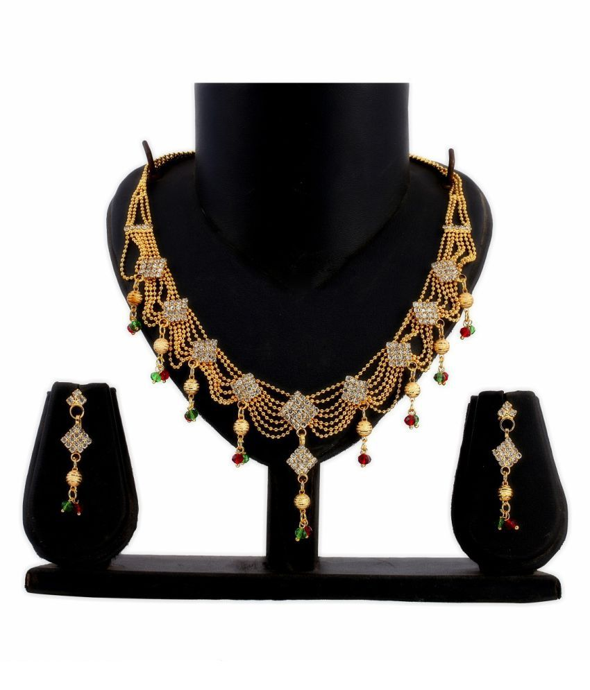Dealseven Fashion Golden Alloy Necklack Set