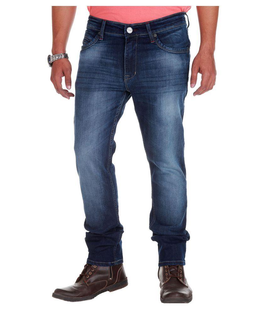 Fly Craft Dark Blue Regular Fit Jeans