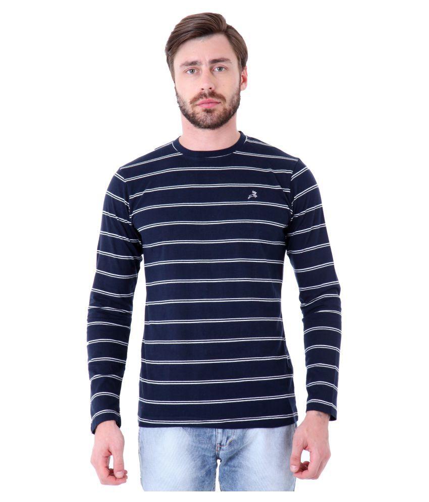 Roman Island Blue Round T-Shirt
