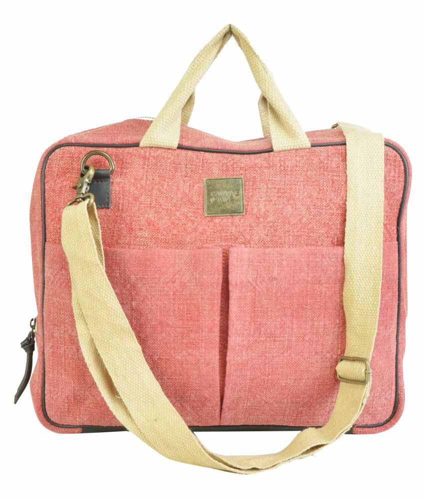 Canvas & Awl Red Casual Messenger Bag