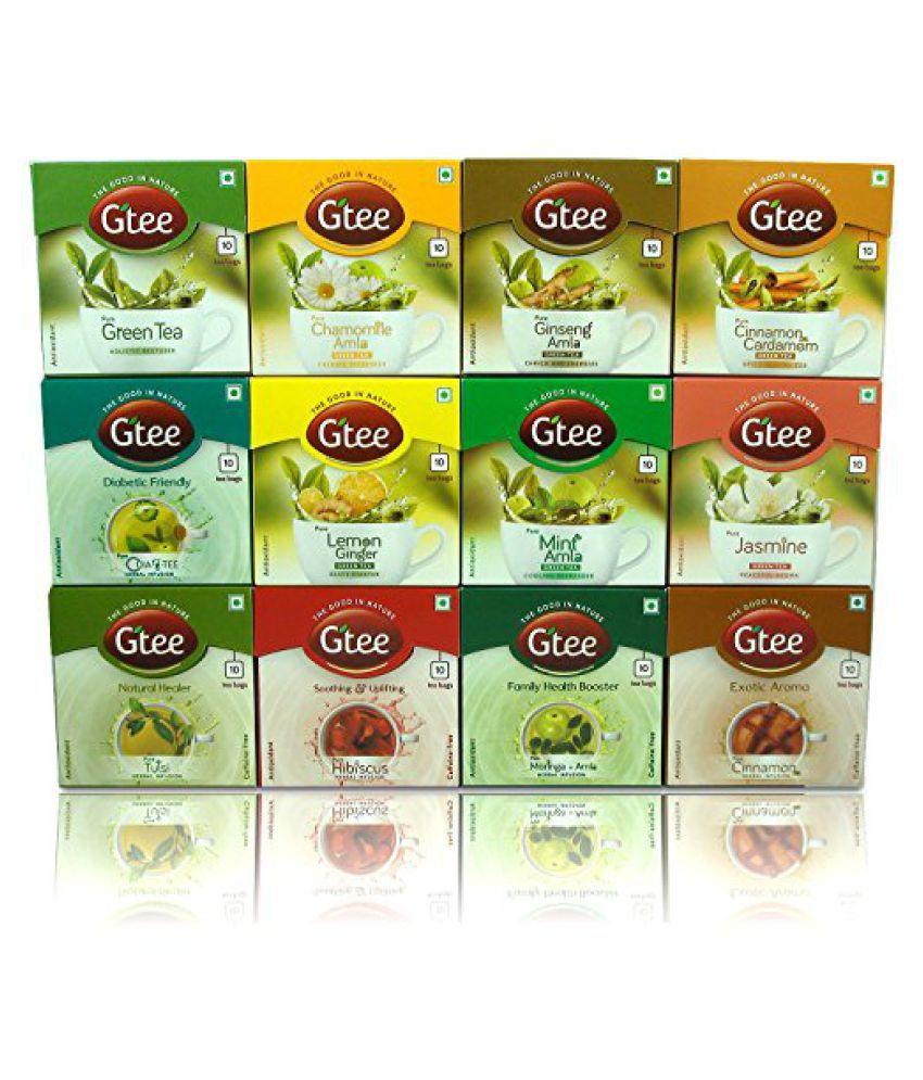 GTEE 12 different Herbal teas Green Tea Bags 120 no.s