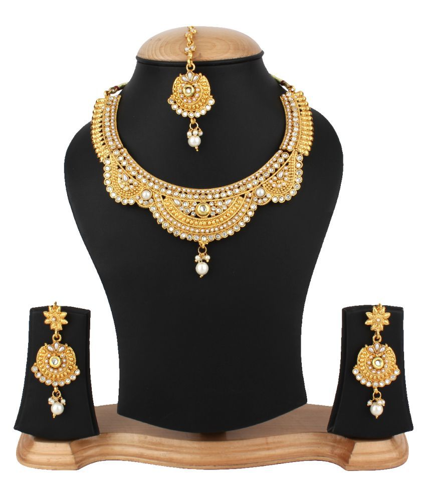 Jewels Gehna Alloy Party Wear Necklace Set for Women